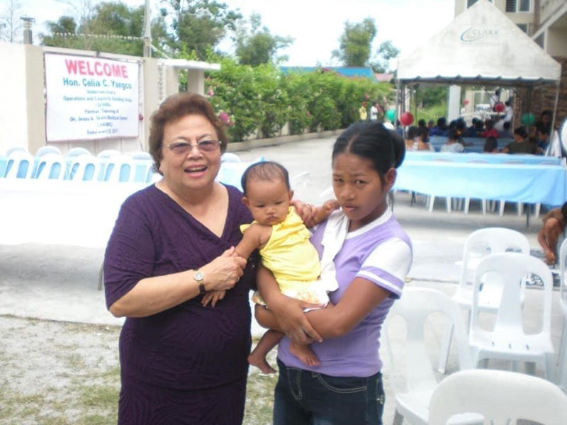 JOAN A. DATU with first baby born at JADMC